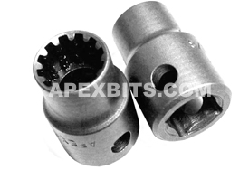 CMS-3412 Apex #12 Standard Spline Socket, 3/8'' Square Drive