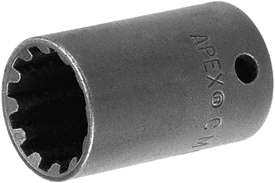 CMS-3512 Apex #12 Long Spline Socket, 3/8'' Square Drive