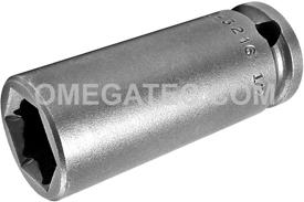 FL-3216 Apex 1/2'' Fast Lead Long Socket, 3/8'' Square Drive