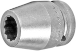 16MM17-D Apex 16mm 12-Point Metric Standard Socket, 3/4'' Square Drive