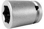 17MM15 Apex 17mm Metric Standard Socket, 1/2'' Square Drive