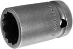 17MM45-D Apex 17mm 12-Point Thin Wall Metric Standard Socket, 1/2'' Square Drive