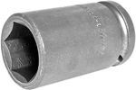 Apex 1/2'' Square Drive Sockets, Metric, Long Length, 6 Point and Double Hex