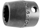 3014-D Apex 7/16'' 12 Point Short Socket, 3/8'' Square Drive