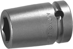 3022-D Apex 11/16''12 Point Short Socket, 3/8'' Square Drive