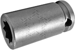 3614-D Apex 7/16'' Double Square Nut Standard Socket, 3/8'' Square Drive