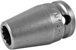 8MM13-D Apex 8mm 12-Point Metric Standard Socket, 3/8'' Square Drive