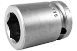 M-17MM15 Apex 17mm Magnetic Metric Standard Socket, 1/2'' Square Drive