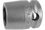 M-3014 Apex 7/16'' Magnetic Short Socket, 3/8'' Square Drive