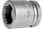 M-3016 Apex 1/2'' Magnetic Short Socket, 3/8'' Square Drive