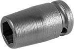 M-7MME1 Apex 7mm Magnetic Metric Standard Socket, For Sheet Metal Screw, 1/4'' Square Drive