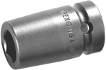 M-8MME3 Apex 8mm Magnetic Metric Standard Socket, For Sheet Metal Screw, Predrilled Holes, 3/8'' Square Drive