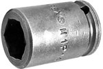 M1P14 Apex 7/16'' Magnetic Standard Socket, For Sheet Metal Screw, Self-Drilling And Tapping Screws, 1/4'' Square Drive