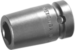 M3E08 Apex 1/4'' Magnetic Standard Socket, For Sheet Metal Screw, Predrilled Holes, 3/8'' Square Drive