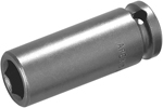 MB-3514 Apex 7/16'' Magnetic Bolt Clearance Thin Wall Long Socket, 3/8'' Square Drive