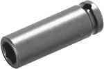 MB-6MM21 Apex 6mm Magnetic Bolt Clearance Metric Long Socket, 1/4'' Square Drive