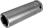 OSMB-10MM21 Apex 10mm Magnetic Bolt Clearance Metric Long Socket, 1/4'' Square Drive, No Ring Groove