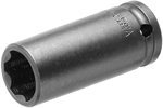 OSSF-8MM23 Apex 8mm Surface Drive Metric Long Socket, No Groove Ring, 3/8'' Square Drive