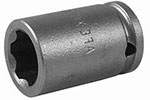 Apex 1/4'' Square Drive Sockets, Metric, Surface Drive, Standard and Long Length