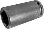 SF-17MM23 Apex 17mm Surface Drive Metric Long Socket, 3/8'' Square Drive