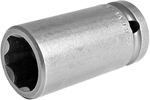 Apex 1/2'' Square Drive Sockets, Metric, Surface Drive, Long Length