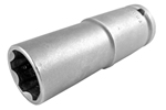 Apex 1/2'' Square Drive Sockets, Metric, Surface Drive, Thin Wall, Extra Long Length